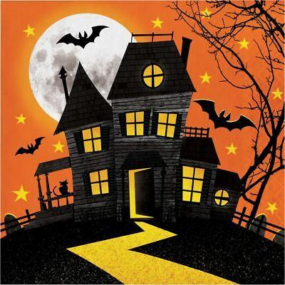 Haunted Hill 16 Ct Luncheon Lunch Napkins Halloween House