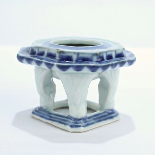 Old Or Antique Chinese Blue & White Porcelain Cup Stand - PC