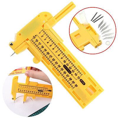 (6 Spare Blades +3 Lead Compass Circle Cutter circular Cutting 1- 30cm Practical)