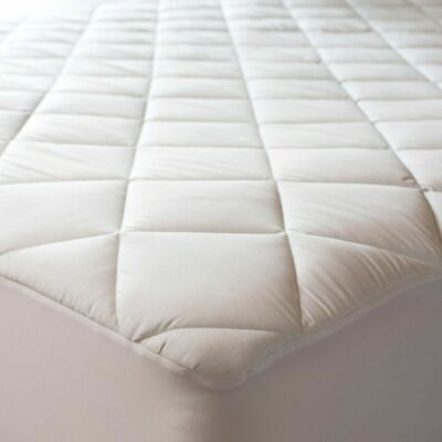 300 TC Cotton Sateen Antimicrobial Waterproof Mattress Pad Topper Hypoallergenic Cotton Sateen Mattress Pad