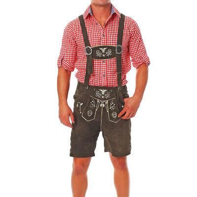 Engelleiter Herren Trachten Adler Lederhose kurz Shorts mit Smartphone Tasche