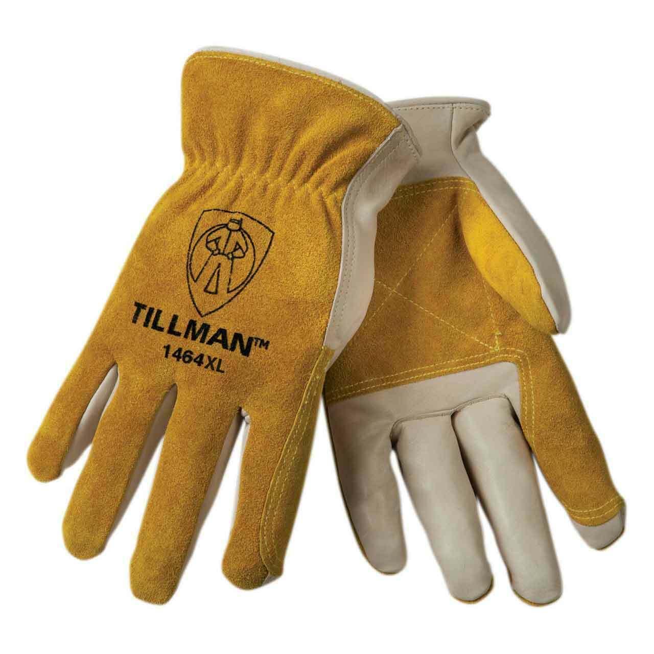 Tillman 1464 Top Grain Cowhide Split Palm Drivers Gloves Various Size SM-XXLarge Business & Industrial