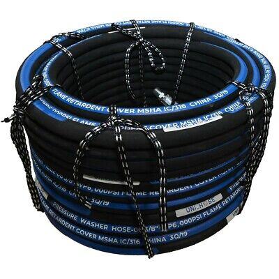 Unihose Pressure Washer Hose 6000psi 38 100 Feet Npt Swivel And Npt Rigid End