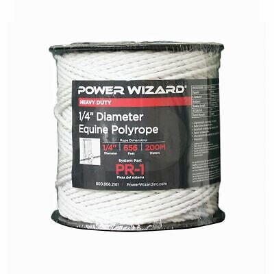 Agratronix Poly-rope Equine 14 Diam 656ft200m Electric Fence Pr-1