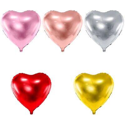 Herzen 45 und 61cm silber gold roségold rosa rot Auswahl (Rosa Und Gold Ballons)