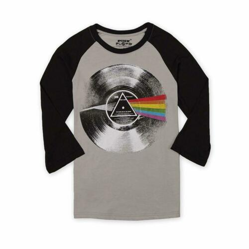 Mens Pink Floyd Dark Side of the Moon Record Baseball T-Shirt NWT S,M,L,XL,2XL