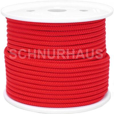 6mm PP 500daN Seil Schnur 50m rot Reepschnur Tauwerk Schot Leine red rope cord