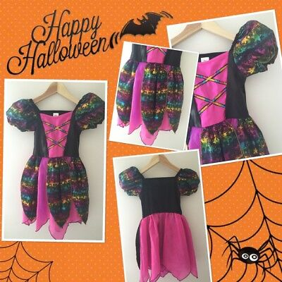 Halloween Girls F Fred Star Theme Witch Dress 3-4 Years