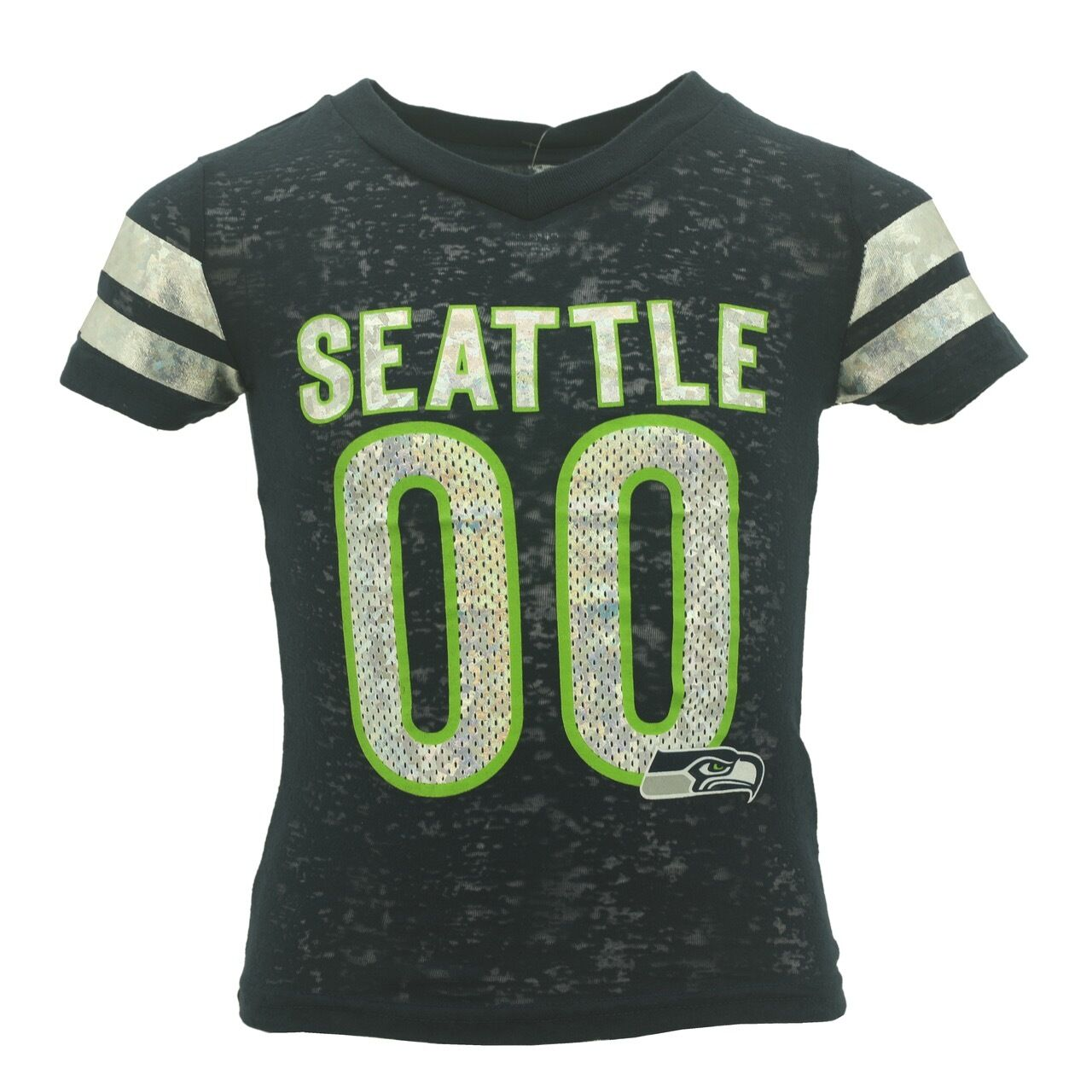58abddcca Details about Seattle Seahawks Official NFL Kids   Youth Girls Size Sheer  Shirt New Tags