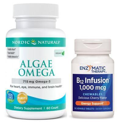 VEG BUDGET Brain Kit - Best Omega-3s and B12 For (Best Vegetarian Omega 3)