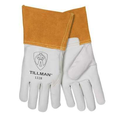 Tillman 1328 Top Grain Goatskin Tig Welding Gloves 4 Cuff Medium