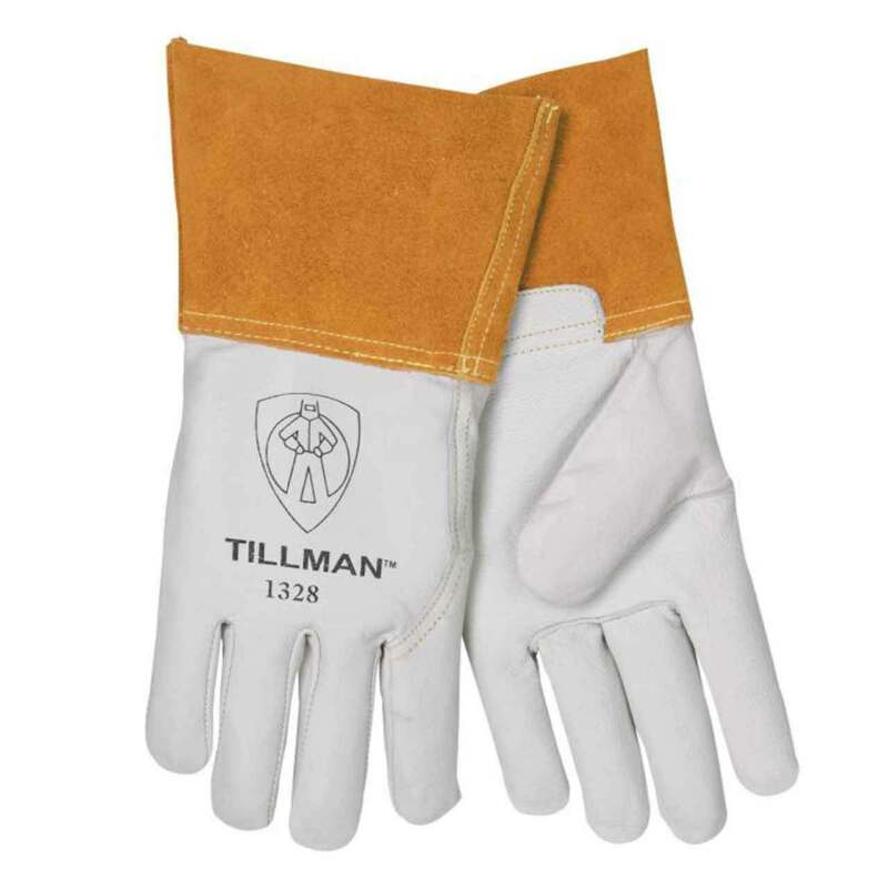 "Tillman 1328 Top Grain Goatskin TIG Welding Gloves 4"" Cuff Medium"