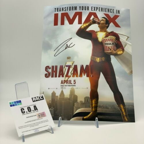 SHAZAM Zachary Levi Signed 11x14 PHOTO AFTAL OnlineCOA