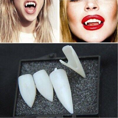 Vampire Teeth Halloween Cosplay Party Fangs Teeth Makeup Horrible Props 4PCS HOT - Hot Halloween Makeup