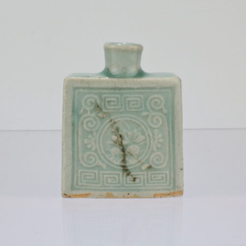Antique Estate Chinese Celadon Pottery Medicine Or Snuff Bottle - PT