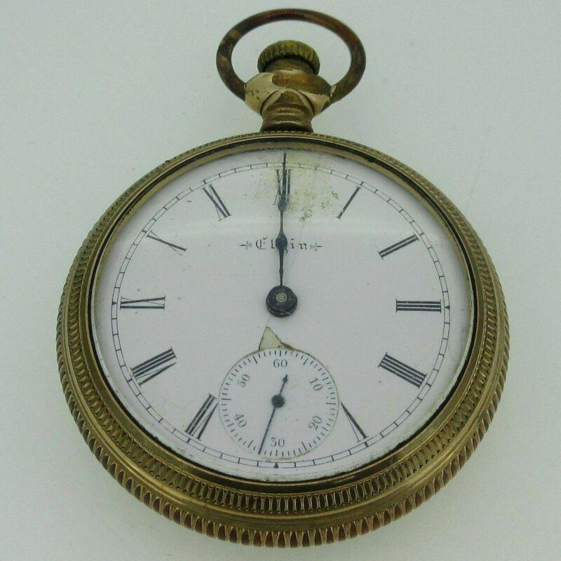 Antique 1899 Elgin Grade 172 Model 5 18s 7J Gold Filled Pocket Watch Parts