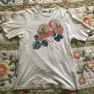Undercover White Skull Flower Graphic T-Shirt Size M