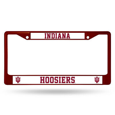 (Indiana Hoosiers Red Metal License Frame [NEW] NCAA Auto Car Truck Plate)