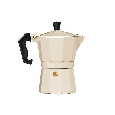 3 Cup Cream Aluminium Espresso Coffee Maker Stove Top Moka Pot Percolator Jug