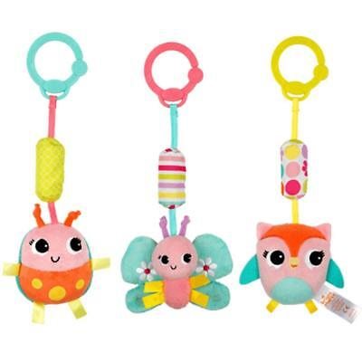 BRIGHT STARTS - PRETTY IN PINK - CHIME ALONG FRIENDS PRAM TOY - CHOOSE CHARACTER