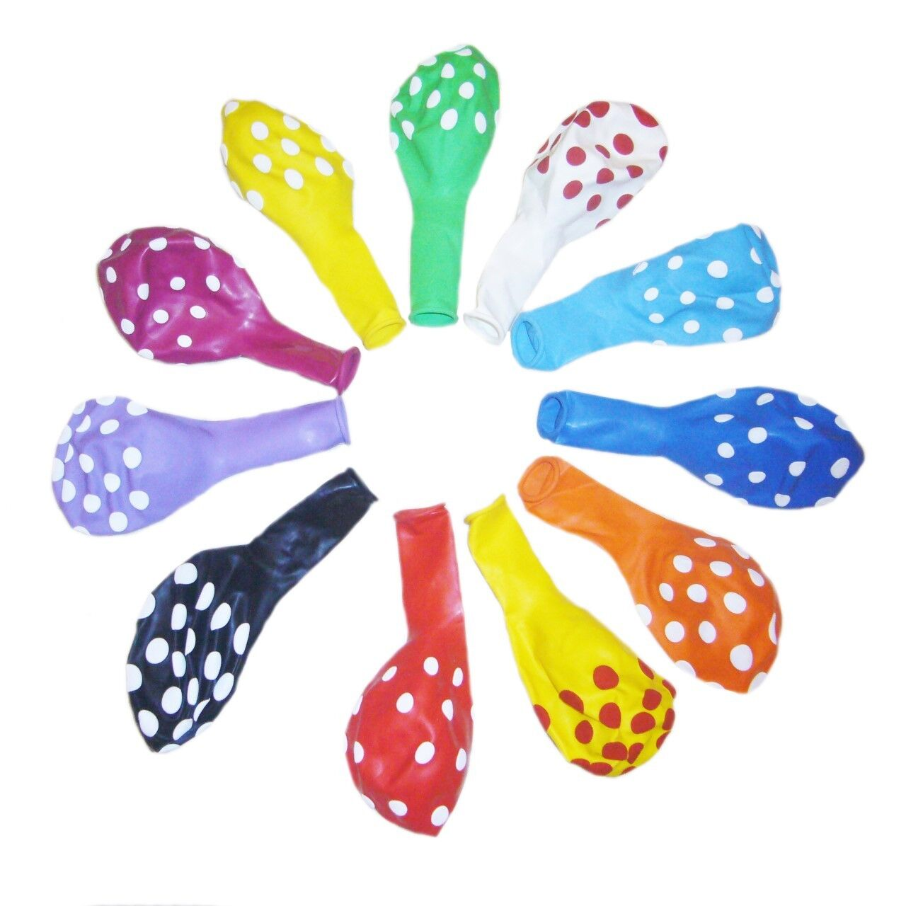 """1 to 250pc 12"""" 11 Color Polka Dot Latex Balloons Party Holid"""