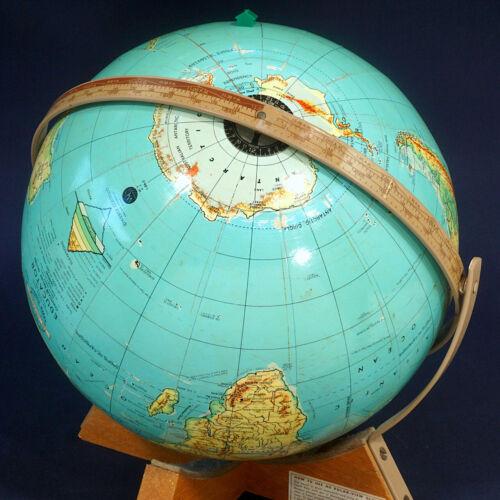 Weber Costello Tri-Graphic Educator Contour Relief School Room Globe 12 inch
