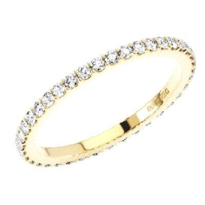 0.60CT Round Brilliant Cut Diamonds Full Eternity Wedding Ring in 9K Yellow Gold