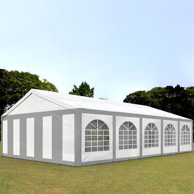 Partyzelt Pavillon 5x10m Bierzelt Festzelt Gartenzelt Vereinszelt Zelt grau-weiß online kaufen