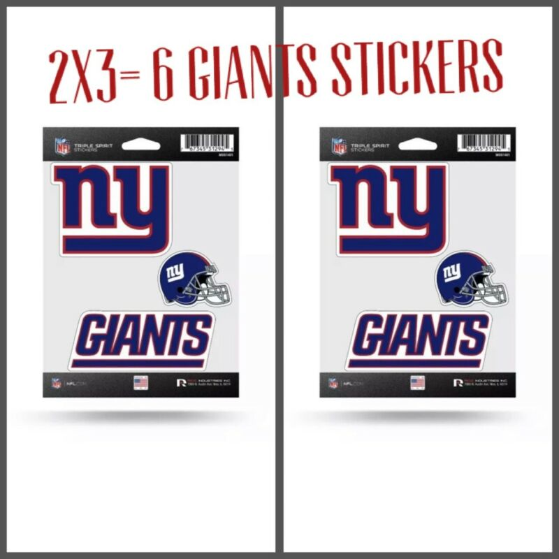 🏈2 Nfl New York Giants Decal/stickers Set Of 3 Decals Stickers 2x3=6 🏈