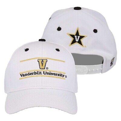 Adjustable  -  Vanderbilt Commodores Adult Game Bar Adjustable Hat - White