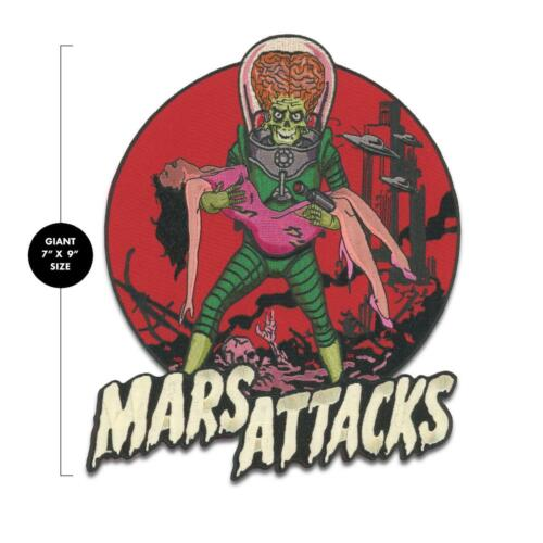 Mars Attacks Back Large Patch Iron On Alien Victim Horror Sci Fi Comedy Monster