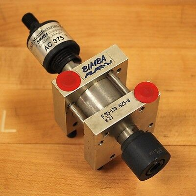 Bimba Fsd-170.625-b Pneumatic Cylinder Double Acting With Ac 375 Coupler. - New