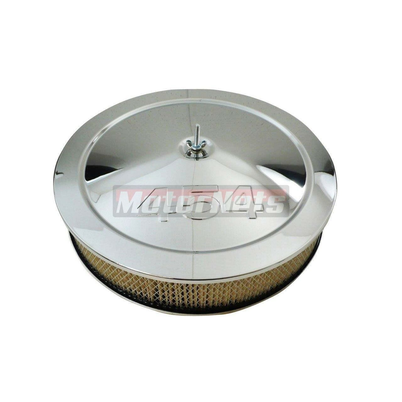 "Recessed Base /& Paper Element Chrome 14/"" x 3/"" Muscle Car Air Cleaner Set"