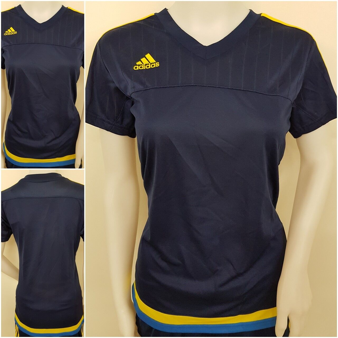 adidas Damen Tennis Golf Fitness Shirt Trikot Short Hose Frauen LIC blau L O