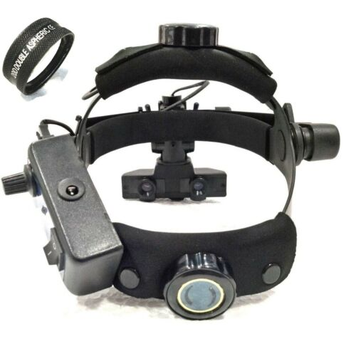 Brand New Indirect Ophthalmoscope With 20 D Lens Black Colour & Accessories