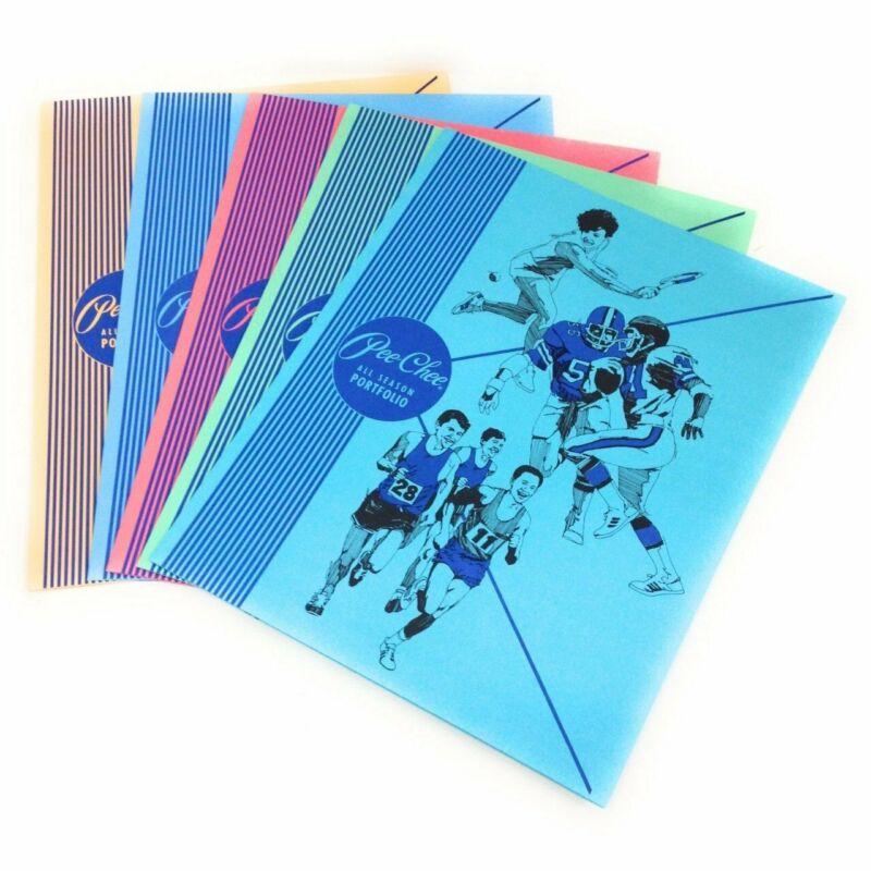 Pee-Chee All Season Portfolios Set Includes 5 Nostalgic Colored Folders