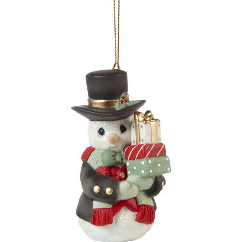 PRECIOUS MOMENTS 12th Annual SNOWMAN 2021 Ornament NEW 211018