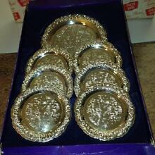 Silver Plated Coaster Set Pagewood Botany Bay Area Preview