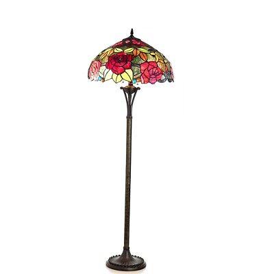- Tiffany-style 2 Bulb Roses Floor Lamp 18