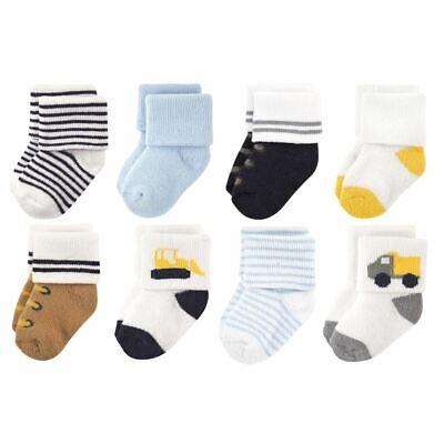Luvable Friends Boy Socks, 8-Pack, Bulldozer