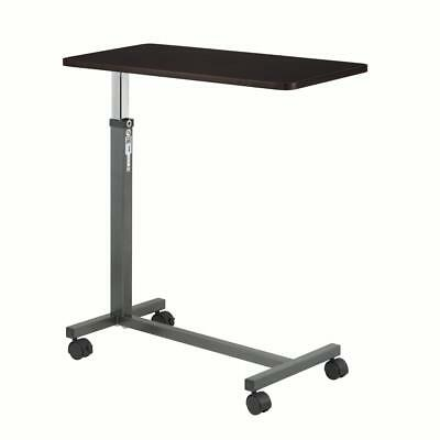 Drive Medical Bedside Table Rolling Overbed Cart Hospital Bed Tray Laptop Desk