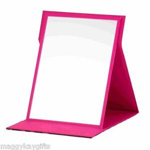 Pink Sparkly Safari Folding Easel Mirror - Travel - Make-Up