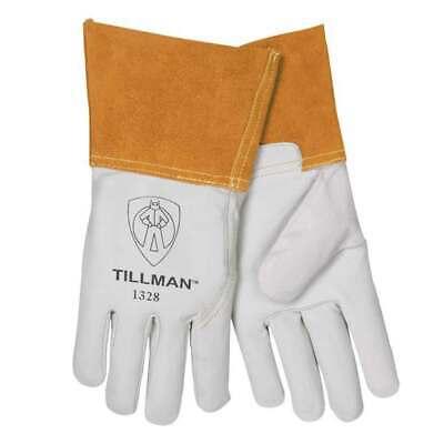 Tillman 1328 Top Grain Goatskin Tig Welding Gloves 4 Cuff Large