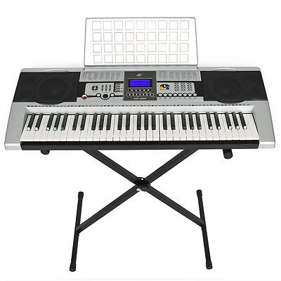 Electronic Piano Keyboard 61 Key Music Key Board Piano With X Stand Heavy Duty on Rummage