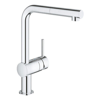 Grohe 32168000 Minta Single-lever Sink Mixer Tap, Pull-Out Spout - Chrome - New