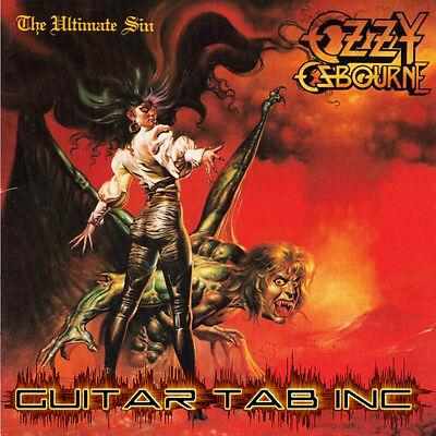 Ozzy Osbourne Digital Guitar   Bass Tab The Ultimate Sin Lessons Disc Jake E Lee