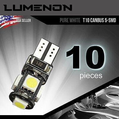 T10 Canbus Error Free Wedge 5 Smd White 5050 Led Light 6K 2825 158 192 168 194