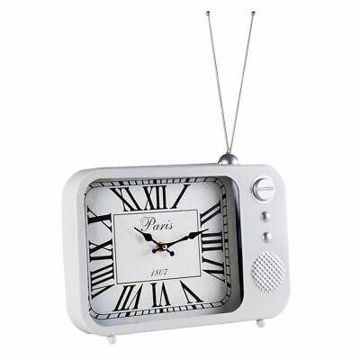Reloj de Pared & Reloj de Mesa Metal Vintage Radio Diseño, Blanco segunda mano  Embacar hacia Argentina