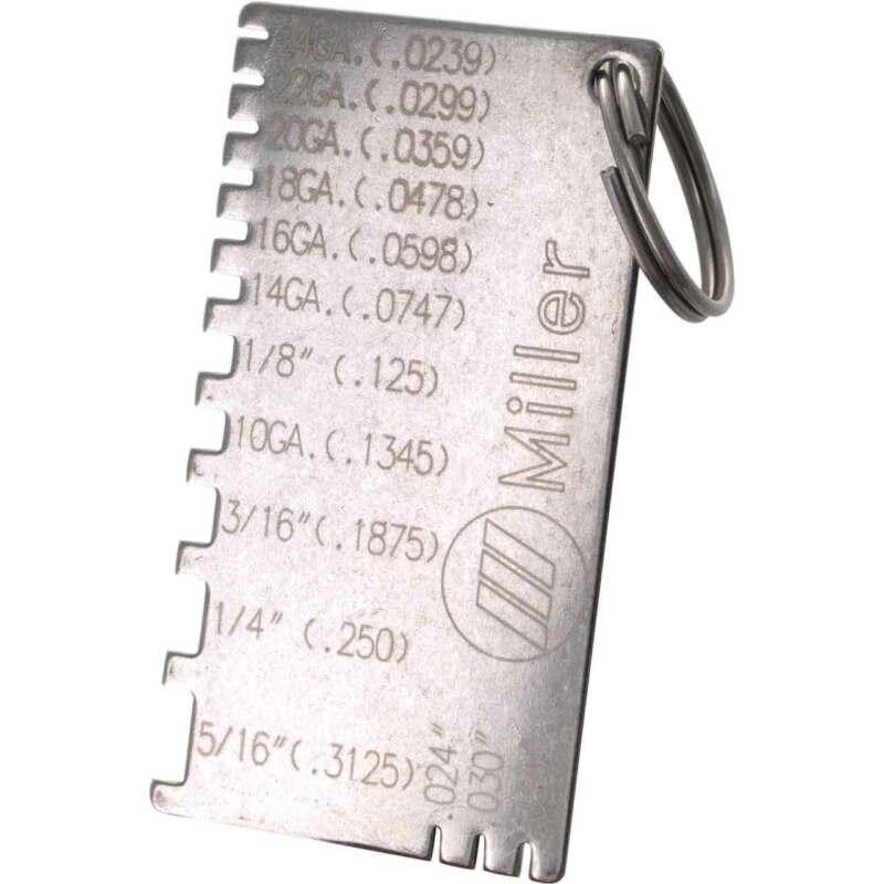Miller 229895 Gauge Wire Metal Sizes