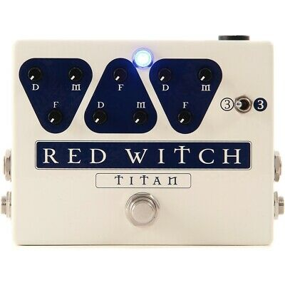 New Red Witch TITAN Delay Guitar Effects Pedal - Analog Triple Delay +Ships Free